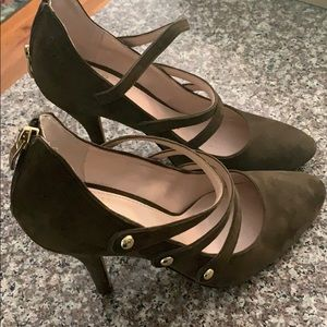 Olive Suede Vince Clamato Shoes